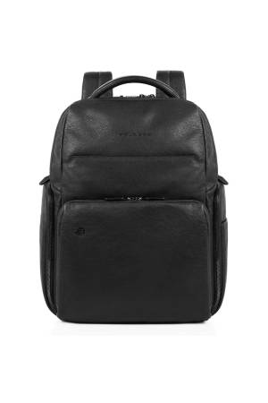 Piquadro Rugzakken Black Square Computer Backpack with Ipad Compartiment