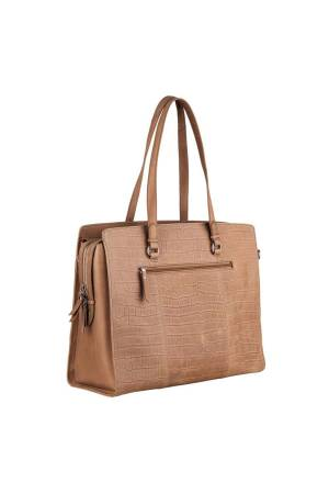 Burkely Croco Caia Workbag 15,6 inch taupe | Wennekes.nl