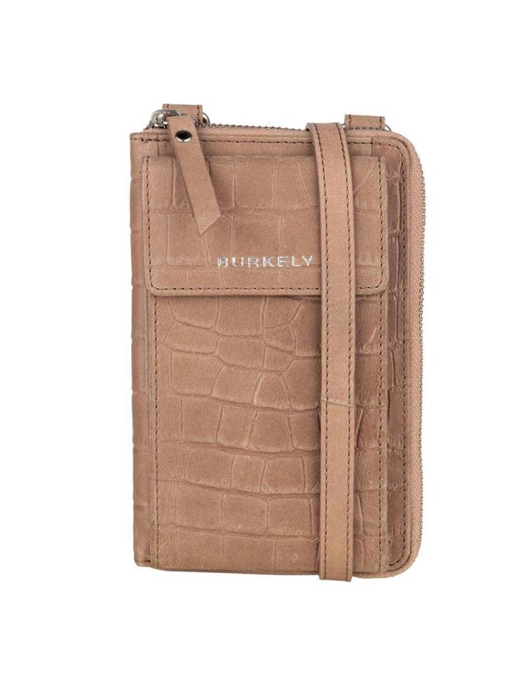 Burkely Croco Caia Phonebag taupe | Wennekes.nl